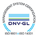 Logotyp Management System Certification ISO 9001 ISO 14001